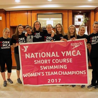 The York YMCA women's swimming team won its second