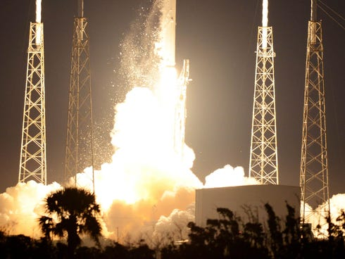 A SpaceX Falcon 9 rocket lifts off Dec. 3, 2013, from Cape Canaveral Air Force Station. A second launch is scheduled Jan. 3, 2014.