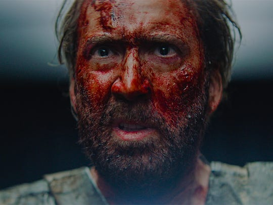 Nicolas Cage is out for blood in revenge thriller 'Mandy.'