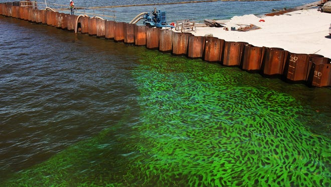 Democratic presidential nominee Hillary Clinton criticized Florida Gov. Rick Scott for lack of action on algae blooms and state's water problems.