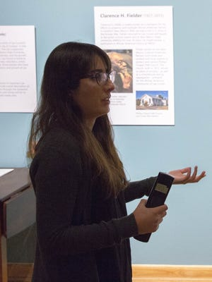 "Docent Norma Chairez-Hartell discusses the ""What's your Las Cruces"" exhibit at the Branigan Cultural Center and the interactive nature of the exhibit. Feb 1, 2018."