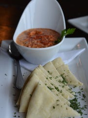 The Smoked Baba Ganoush ($7) is a great, healthy summer dip.  The smoked eggplant is pureed with spices and served with warm pita. It's refreshing and light.