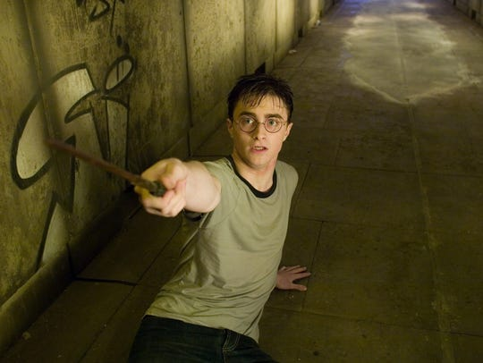 "Daniel Radcliffe as Harry Potter in the movie ""Harry"