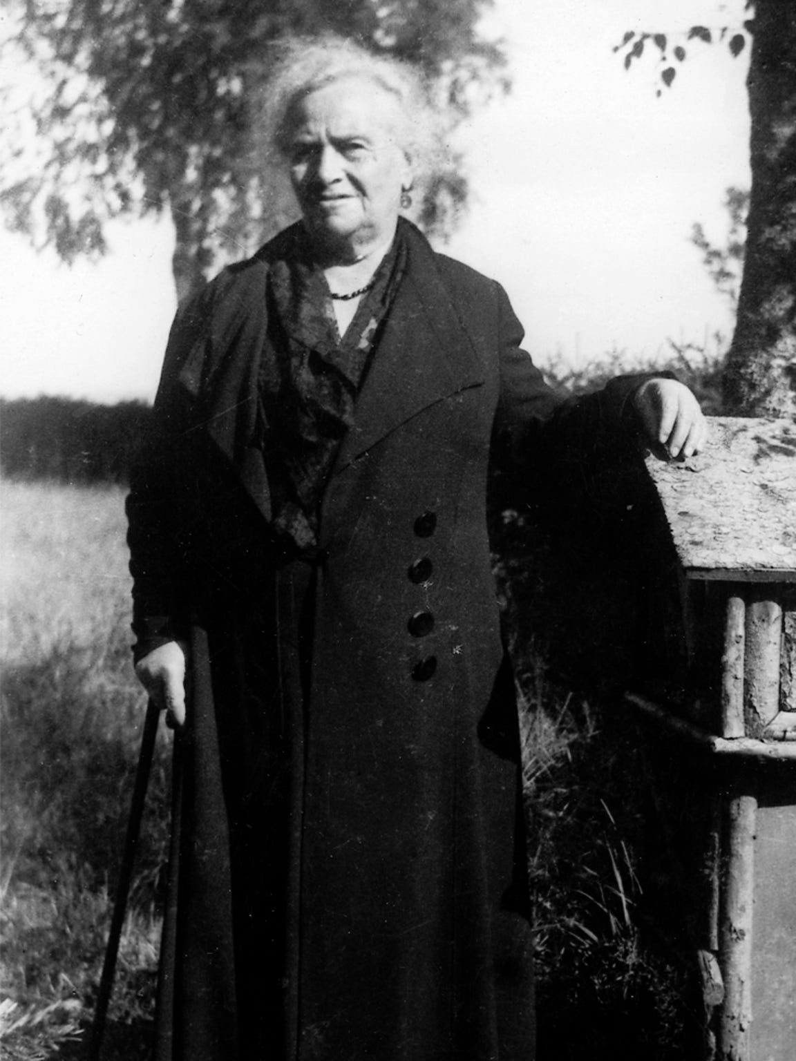 Ida Weisskopf toward the end of her life. She died