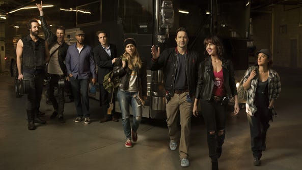 The cast of Showtime's new 'Roadies,' premiering June