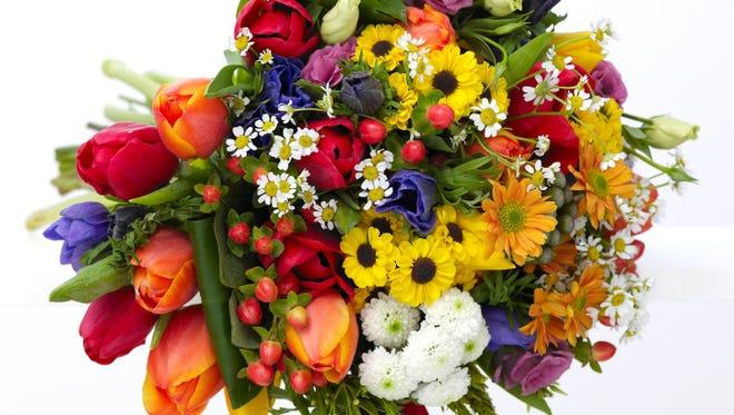 A bouquet of fresh cut flowers.