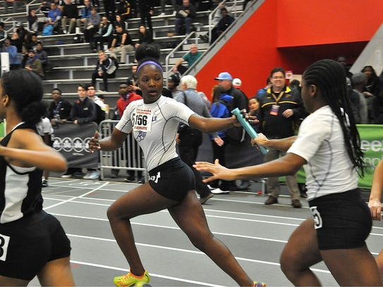 New Rochelle's Olivia Morgan takes handoff from Arriana