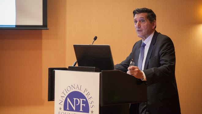 Michael Botticelli speaks at an event sponsored by the National Press Foundation.