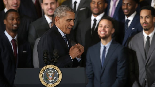 President Barack Obama and Stephen Curry from the Golden State Warriors became friends in the past few years.