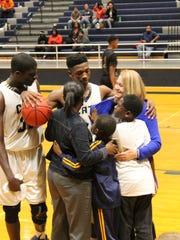 Kamar Baldwin of Apalachee High School in Georgia meets