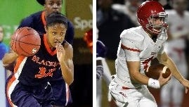 Blackman's Crystal Dangerfield and Brentwood Academy's Jeremiah Oatsvall.