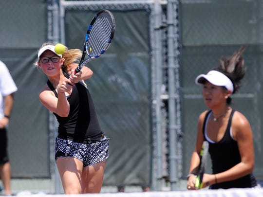 Casie Curry made her second straight appearance at the UIL State Tennis Tournament Thursday. The Rider High School senior and Midwestern State signee earned a bronze medal with Julia Chon, a sophomore who plans to return to state in 2019.