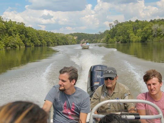 FSU science students on a trip to explore the Apalachicola River with Apalachicola Riverkeeper's Dan Tonsmeire.
