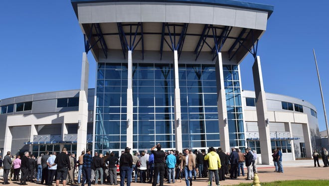 Guests tour the the newly renovated Rapides Parish Coliseum in February.