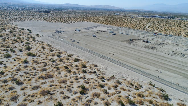 A large marijuana cultivation facility is under construction in Desert Hot Springs, Ca.  The Specialized Development Little Morongo Cultivation Facility is one of several that are breaking ground in Desert Hot Springs.