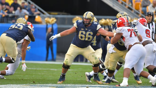 Mike Herndon (66) is preparing for senior day at the University of Pittsburgh.