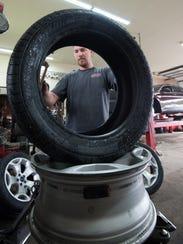 Courtney Sammak, an auto technician at Furr's Tire