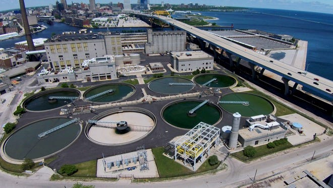 The Milwaukee Metropolitan Sewerage District  at the Jones Island sewage treatment plant. MMSD is mandating that many buildings in the city's combined sewer and storm system disconnect their downspouts in the coming years.