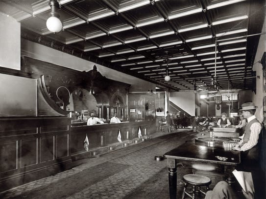 When the rebuilt Palace Saloon opened in 1901,  it