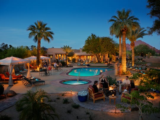 The pool at the intimate Hermosa Inn in Paradise Valley,