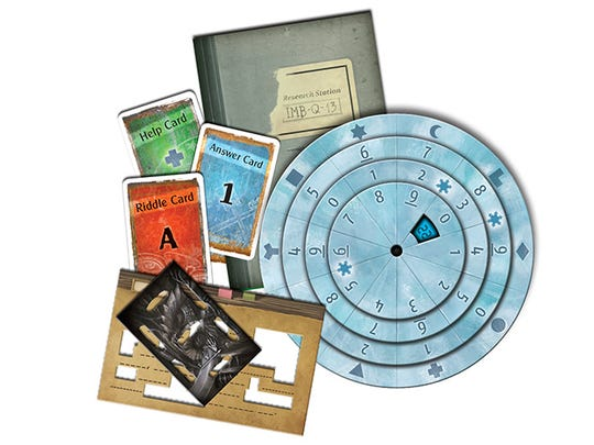 A look at the materials for the Polar Station Exit Game. Using these clues, players can find a way to escape their Arctic tomb.