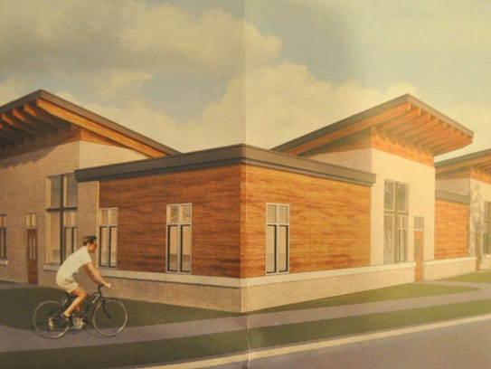 The proposed apartment building at 1633 W. Bender Road