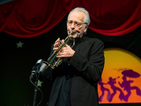 Herb Alpert performing at the 2017 New Orleans Jazz and Heritage Festival.