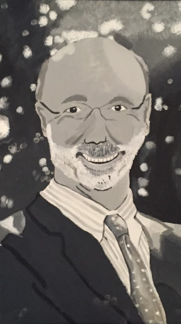 A portrait of Gov. Tom Wolf by Northeaster High School