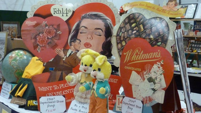 Valentine's Day-themed antiques will be part of the Wausau Antique Show Feb. 13 and 14 at the Greenheck Field House.