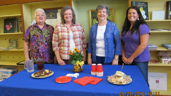 Shown from left are Dogwood Garden Club of Honea Path officers, Ruth Sheperd, Emmaline Ashley, Judy Young and Jodi Fleming.