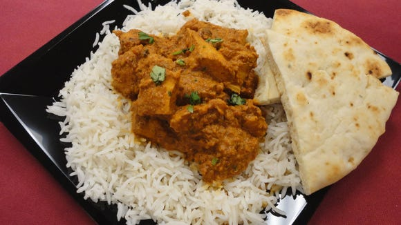 Chicken Tika Masala -- grilled chunks of chicken enveloped in a creamy spiced tomato sauce made with yogurt, lemon, onion, ginger, nutmeg, cardamom, coriander and cumin -- will be among the Indian dishes served Wednesday night at Florida Tech.