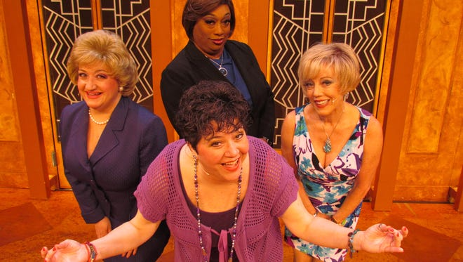 """Annette Houlihan Verdolino, Cherie Price, Ingrid Cole and Sandra Benton performed in """"Menopause the Musical"""" at the Historic Elsinore Theatre in January 2014. Price (right) returns as Soap Star for Jan. 20's performance."""
