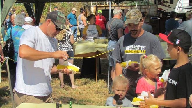 Fixing for a bite at the 49th Annual Aumsville Corn Festival Saturday, Aug. 19.