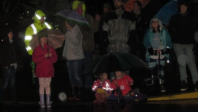 """""""Christmas in the Country"""" was the theme in Sublimity Saturday where residents bundled up and brooked the wet weather for the annual holiday season's Sublimity Light Parade."""