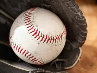 Close-up of a Baseball and Glove