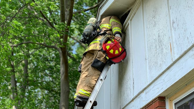 Henderson firefighters battled a blaze on Catalena Drive Wednesday afternoon.