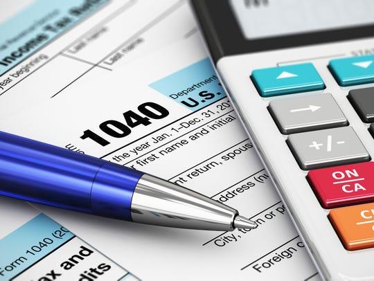 U.S. tax form 1040.