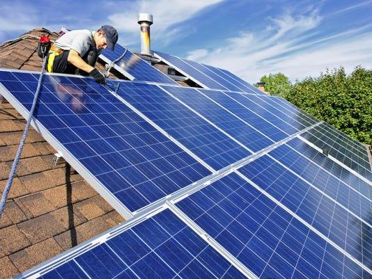 Rooftop solar installation