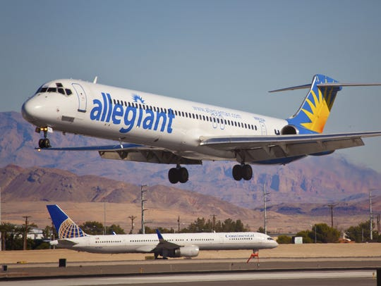 Allegiant Airlines is the largest of four airlines operating out of Phoenix-Mesa Gateway Airport.