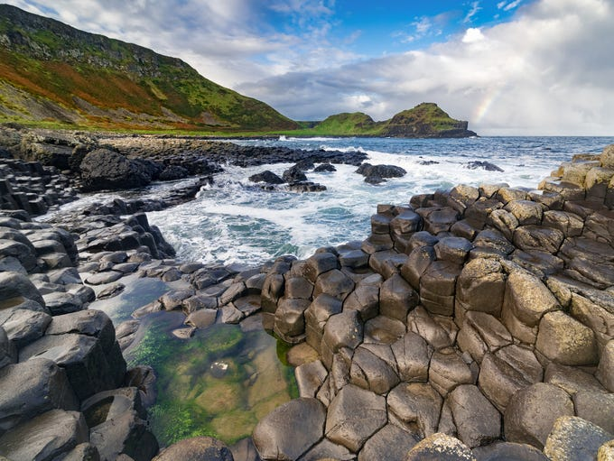 Giant's Causeway in County Antrim, Northern Ireland.