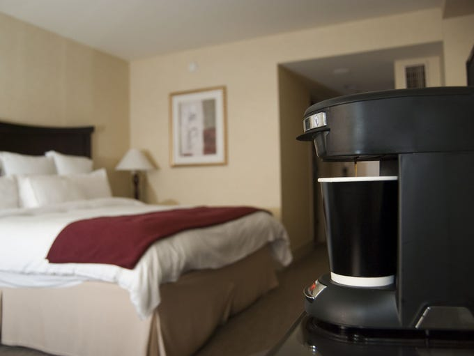 How to get a better cup of in-room hotel coffee: 1.
