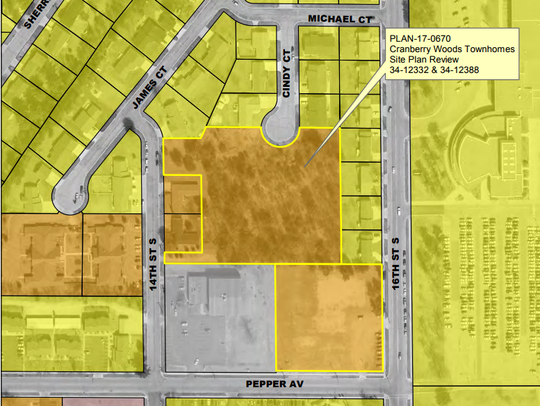 Plans for the Cranberry Woods Townhomes development.
