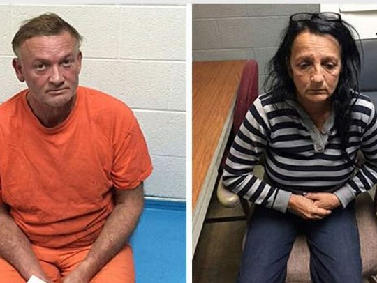 Walter Renz, left, and Linda Buckner, right, were captured