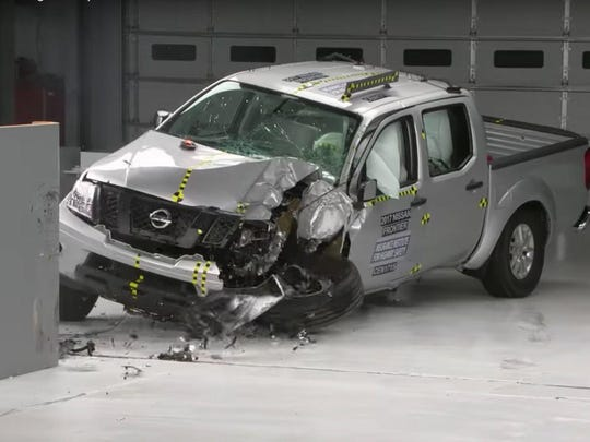 The Nissan Frontier earned an overall marginal rating in the passenger side test crash.