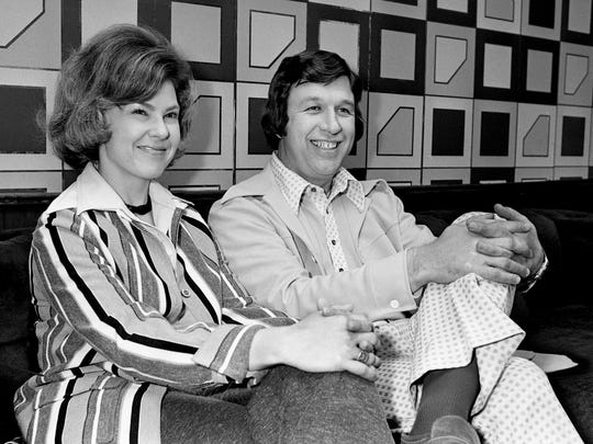 Gloria and Bill Gaither, who combine with his brother Danny to form the gospel music's award-winning Bill Gaither Trio, were in Nashville Feb. 26, 1975 to be honored for selling over a million albums. They have recorded 18 albums for Heart Warming/Impact Records since 1966 and are the first group on the label to have reached that mark.