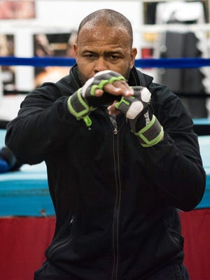 Roy Jones, Jr. trains for what may be his last professional fight in Pensacola at his Molino area home Thursday, Feb. 1, 2018. Jones is preparing for his Island Fight 46 bout at the Pensacola Bay Center on Feb. 8th.