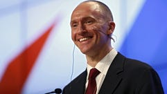 Carter Page speaks in Moscow in December 2016.