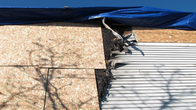 This photo shows some of the damage to Melissa Messersmith's condo in Mason.
