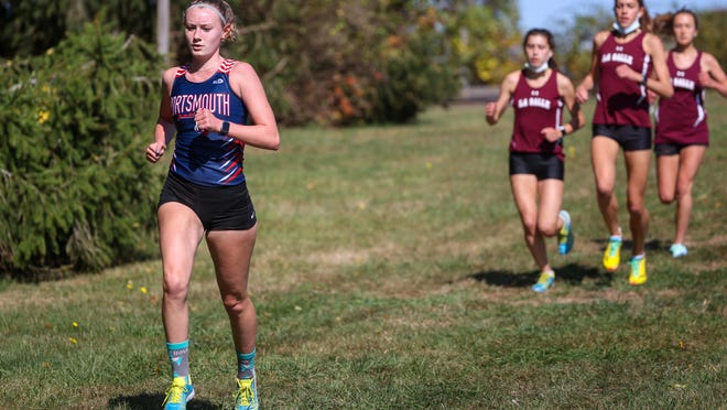 Portsmouth's Abby Gilpin notched a third-place finish in Saturday's race.