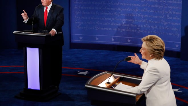 Hillary Clinton and Donald Trump debate Wednesday at UNLV in Las Vegas.